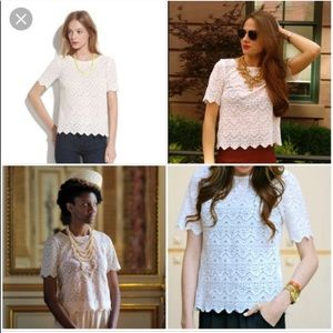 Madewell scalloped lace top Broadway & Broom